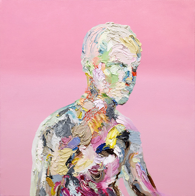 Simon Ng, About a Boy (2016), Oil on Canvas, 61 x 61 cm