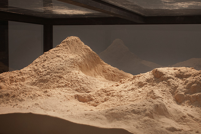 Robert Zhao, How To Make A Tree Disappear As Nature Intended II (2016), 100 kg of sawdust will be distributed in an installation at the Substation, Dimensions Variable