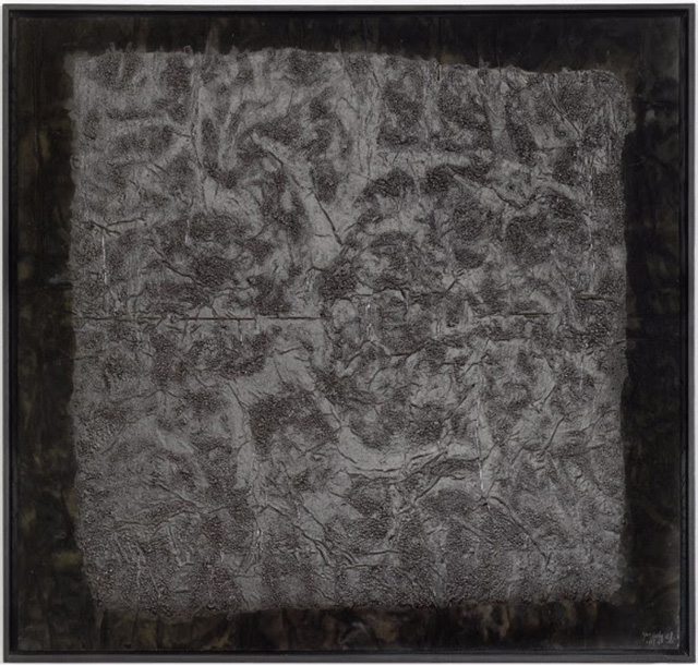 Yang Jiechang, 100 Layers of Ink (1993), ink on Xuan paper and gauze, framed: 108 x 110 cm