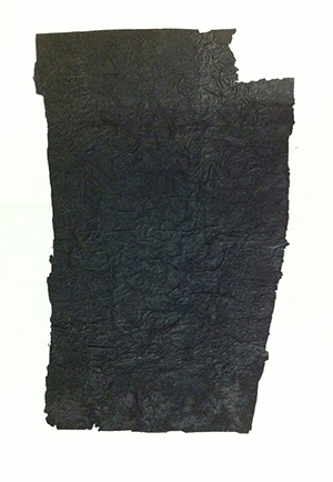 Yang Jiechang, 100 Layers of Ink, 1989-1990, Ink on Xuan paper and gauze, 150 × 220 cm