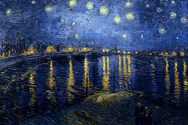 Vincent van Gogh, Nuit étoilée sur le Rhône, 1888