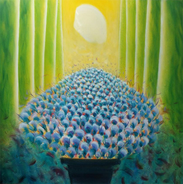 Tang Hong Lee, Nature's Spectacles 8, oil on canvas, 91.5 x 91.5 cm