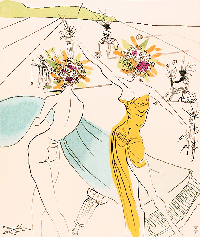 Flower Woman with Soft Piano, 1972, Aubusson Tapestry, 160 x 127cm