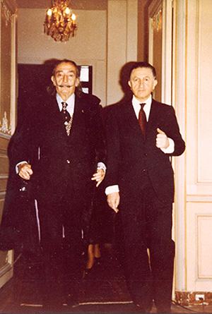 Salvador Dali and Pier, e Argillet_Circa 1960's