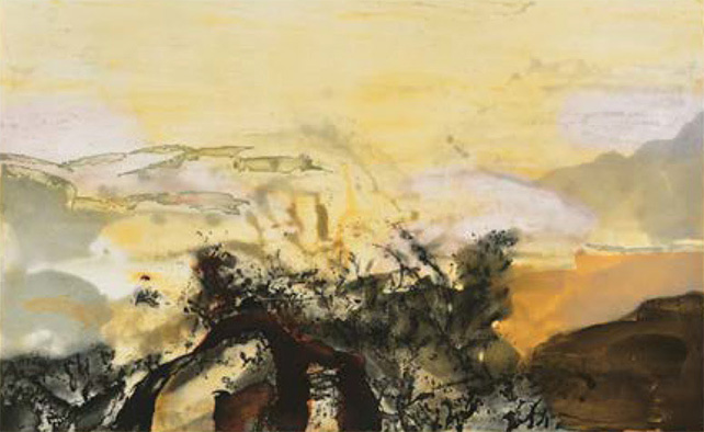 Zao Wou-Ki, Untitled, Etching with Aquatint, 1987