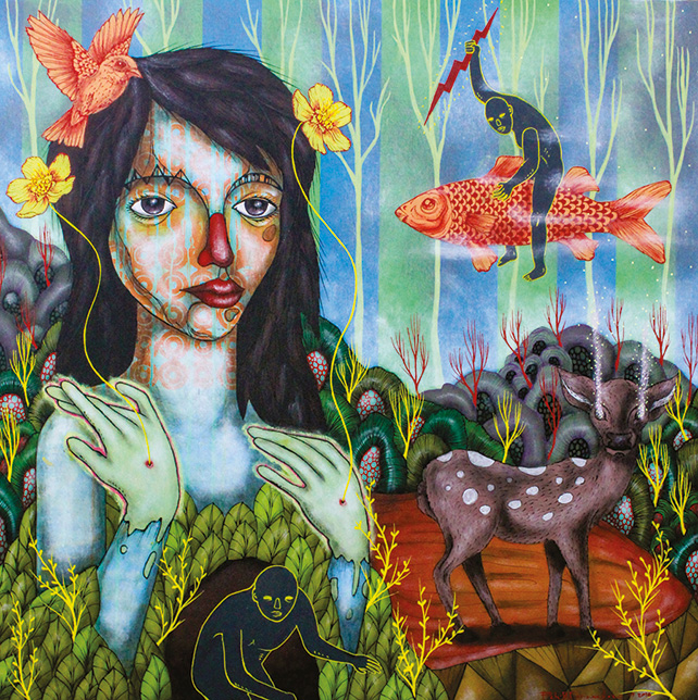 Diwata of Makiling by Patrick Fernandez, Acrylic on canvas, 91 x 91 cm