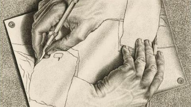 Drawing Hands, 1948 (M.C. Escher) © 2016 The M.C. Escher Company – the Netherlands. All rights reserved. www.mcescher.com