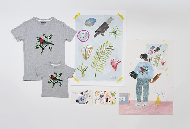 Postcards, poster, t-shirts by Aiko Fukawa