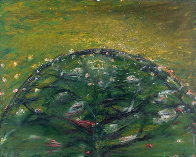 Tan Swee Hian, My Home Is Under A Fruit Tree, 1990, Oil on Canvas