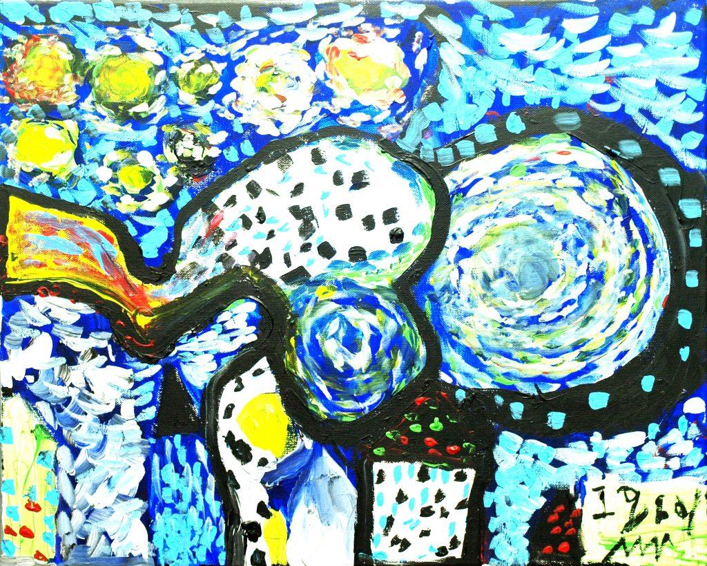 Muhd Iqbal, 15 (Acrylic on Canvas)