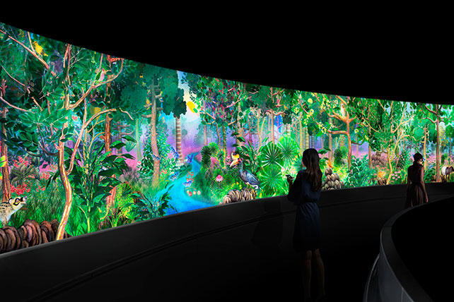 Story of the Forest artist impression by teamLab