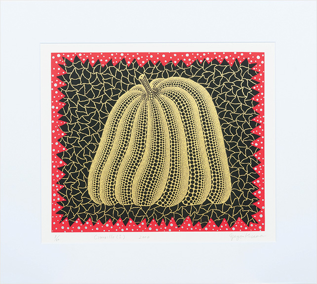 Kato Art Duo presents Yayoi Kusama, Pumpkin l (Gold) Edition 9-60, Engraving, 42cm x 50cm, 2000