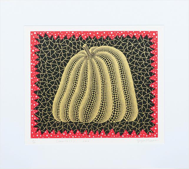 Kato Art Duo presents Yayoi Kusama, Pumpkin l (Gold) Edition 9-60, Engraving, 42cm x 50cm, 2000