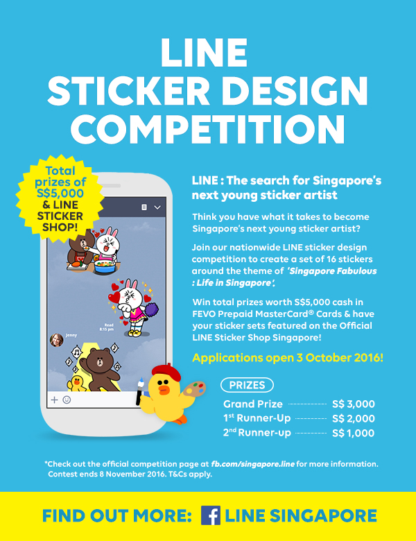 Line the worlds leading life platform today launched its inaugural sticker design competition in search of singapores next young sticker artist