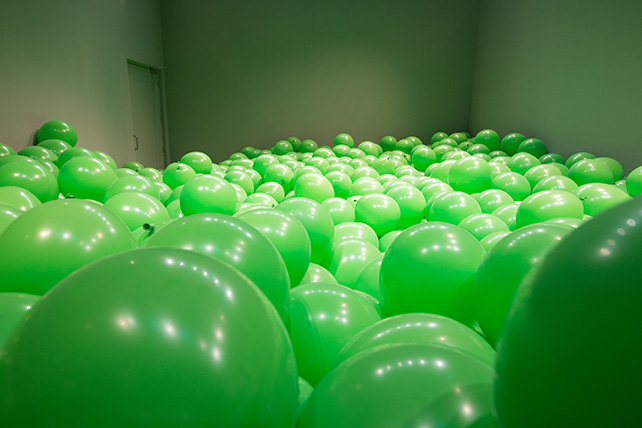 Work n°262, 2001, Martin Creed, Collection FRAC, Languedoc-Roussillon, Photo M. Brucker