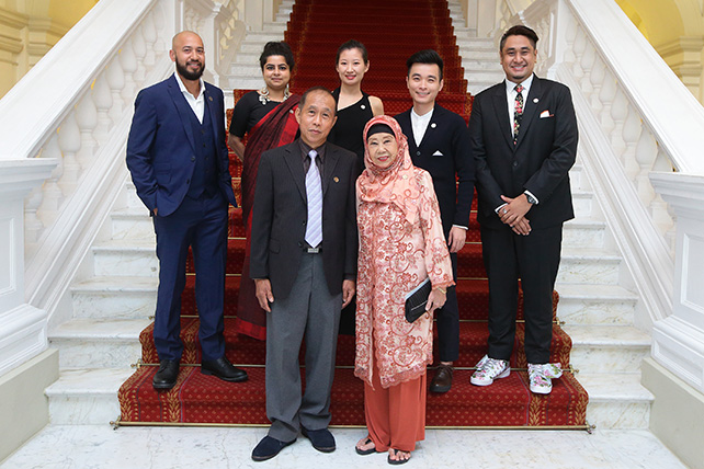 Top row L-R - Marc Nair, Pooja Nansi, Alecia Neo, Liu Xiaoyi, Ezzam Rahman. Bottom row L-R - Koh Mun Hong, Nona Asiah