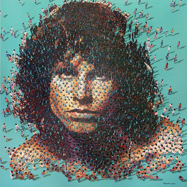 REDSEA Gallery from Singapore presents Syaiful Rachman, Jim Morrison, Acrylic on canvas, 150cm x 150cm, 2015