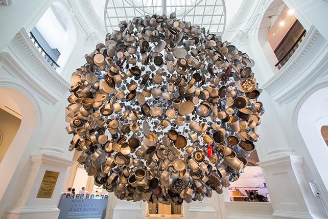 Subodh Gupta, Cooking the World, 2016, Image courtesy of Singapore Art Museum