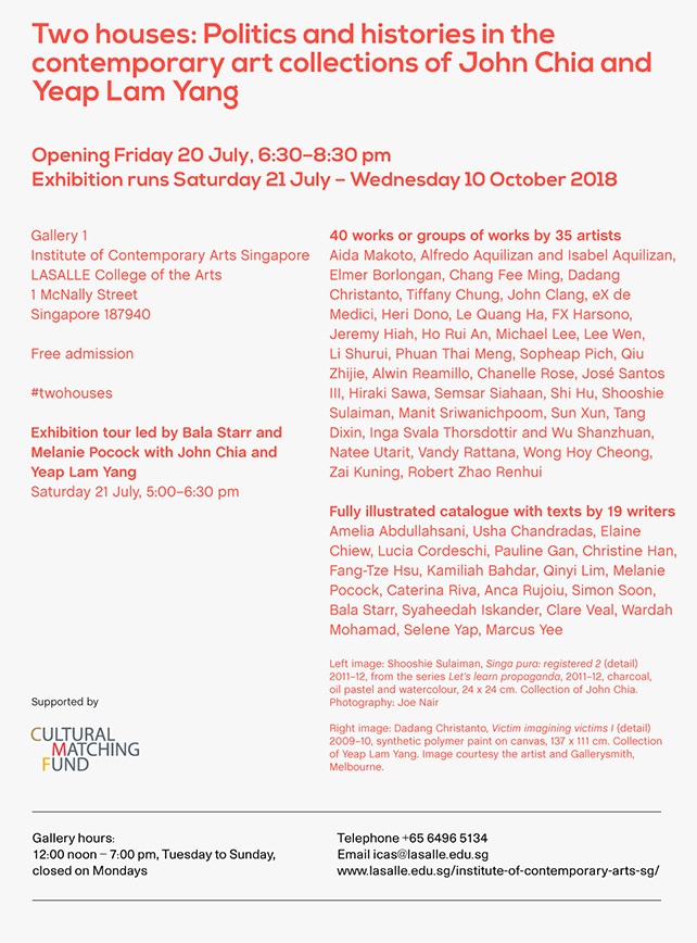 Two houses: Politics and histories in the contemporary art